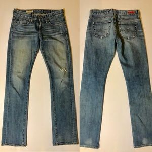 Ag Adriano Goldschmied Jeans - AG Tomboy Boyfriend Fit Distressed Jeans
